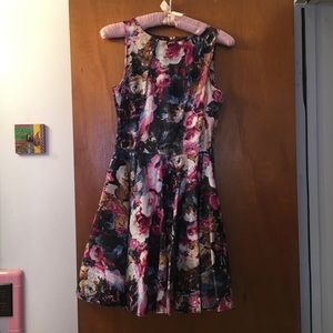 Closet Floral Fit and Flare Dress